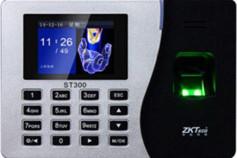 中控智慧(ZKTeco)ST300 彩屏 网络型指纹考勤机 指纹机 打卡机打卡器大容量 ST300
