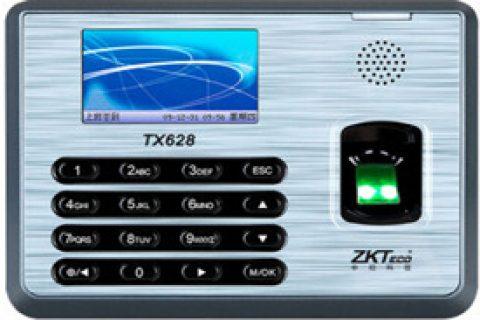 中控(ZKTeco)彩屏 网络型指纹考勤机打卡器大容量存储TX628