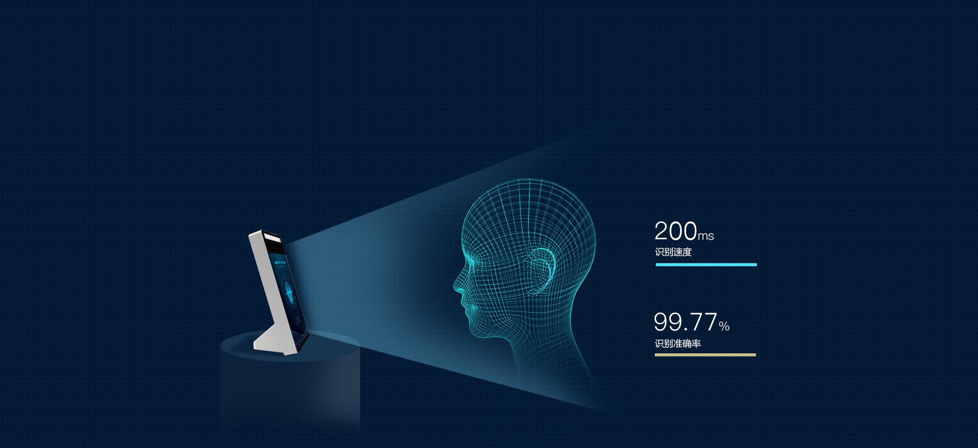 考勤易FACEX1人脸识别机强大的识别算法